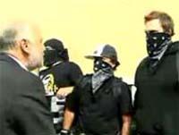 agent provocateurs wearing masks