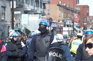 Officer wearing 2 masks