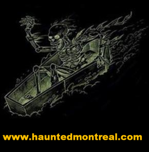 Haunted Montreal logo with URL